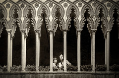 In the moment (Jenny Pics) Tags: architecture candid expressions pillars tones processing italy columns framing texture detail