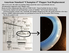 Flapper Gasket Replacement (KathyCat102) Tags: americanstandard champion4 toilet flapper gasket seal korky 450bp