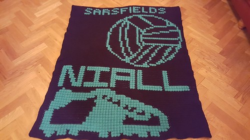 Sarsfields GAA blanket for Niall
