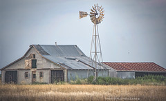 (Chains of Pace) Tags: abandoned barn oklahoma country western windmill prairie