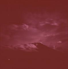 (bensn) Tags: hasselblad 500cm carl zeiss 80mm f28 film mediumformat velvia 100 longexposure night dark mountain fuji fujimountain sky clouds selfdeveloped