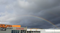 Double rainbow over our favorite Icelandic bakery (kzoop) Tags: travel vacation iceland europe rainbow rainbows samsung