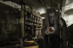 bibliotecari màgic (kbl phtogaphy) Tags: photoshop nikon fantasia urbex abandono