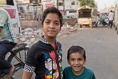Children posing in Jaipur