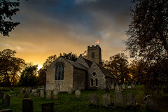 St Mary at Marlingford (jammo s) Tags: marlingford church medieval norfolksmedievalchurches sky sunset god graveyard dusk stmary lightroom canoneos6d canonef24105mmf4lusm