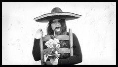 (liloza7) Tags: people mexican woman adelita moderna chihuahua fotografia mexicana portrait black white bw monochrome sombrero hats