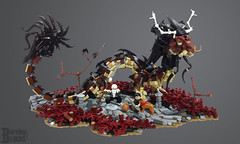 Of Myth and Journey (burningblocks) Tags: dragon chinese asian lung fantasy mythology nythical creature monster oriental beast sculpture diorama landscape