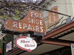 Fox Shoe Repairs, Augusta, GA (Robby Virus) Tags: augusta georgia fox shoe repairs cobbler store shine feet foot neon sign signage business
