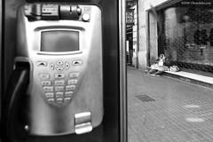 Barcelona mon amour (`Olivier Jules`) Tags: barcellona barcelona espana spain spagna chica chico guapa loca sagrada familia gaudì street dog girl woman blackandwhite telephone alien alieno cane palma art gothic volley wilson night