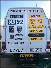 How to confuse the Speed Camera's (The Stig 2009) Tags: thestig2009 thestig stig 2009 2016 tony o tonyo number plates speed camera confusion auto jumble kempton vintage classic apple iphone 6s white van mobile shop beat confuse multiple