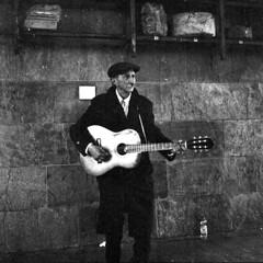 Old song (zane) Tags: street music analog photography blackwhite guitar köln analogic rolleicord analogicait