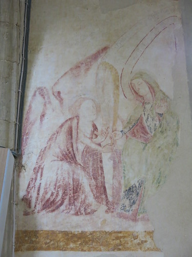 Wall painting - the annunciation - c.1340
