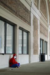 Shy Guy (Samicorn) Tags: costumes nerd boston comics nikon comic alone geek cosplay nintendo hallway comicbooks videogame characters fandom con supermario shyguy mariobrothers bostonworldtradecenter shyguys bostoncomicconvention