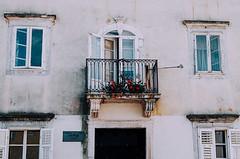 (Berill Sándor Photography) Tags: windows summer flower architecture photography photo croatia analogue krk 2015 analóg