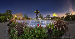 Bartholdi Park and Botanic Garden Conservatory (D. Scott McLeod) Tags: panorama dawn washingtondc dc districtofcolumbia scottmcleod bartholdipark bartholdifountain botanicgardenconservatory dscottmcleod