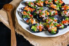 Mejillones gallegos en vinagreta (Frabisa) Tags: galicia mejillones vinagreta musselsvinaigrette
