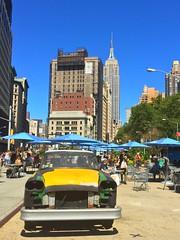 Empire State & Checker NYC (dannydalypix) Tags: nyc newyorkcity empirestatebuilding