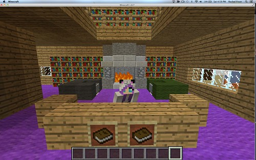 Rachel's Library in Minecraft at Connect by Wesley Fryer, on Flickr
