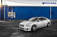 Nissan Maxima - RC8 Machine Silver (3) (Rohana Wheels) Tags: nissan wheels tuner rims import maxima nismo rohana nissanmaxima rc8 4dsc rcseries rohanawheels nissanpower