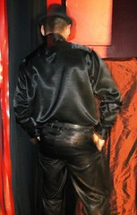 16390575115_c3cac357c0_o (JohnGobbler) Tags: leather shirt fetish pose shiny smoke suit gloves satin