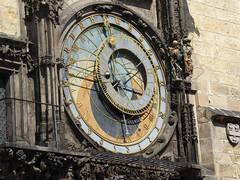 P1000815 Detail der Astronomischen Uhr (fotoculus) Tags: prag marktplatz rathausplatz tchechien busreise astronomischeuhr