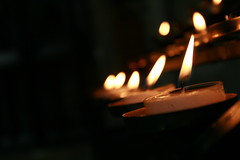 Candles (peteroram18) Tags: church dark candles flame flicker