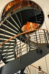 2015_Nyírbátor_0928 (emzepe) Tags: castle metal modern stairs spiral hungary floor upper staircase railing chateau castello ungarn augusztus burg vár 2015 hongrie nyár nyírbátor fém korlát várkastély tetőtér csigalépcső emelet bátori báthori nyírbátori