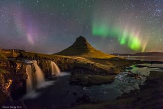 Mt Kirkjufell Aurora