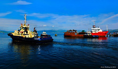 Scotland Greenock the ship repair dock three tugs and the Kyle Venture 13 August 2015 by Anne MacKay (Anne MacKay images of interest & wonder) Tags: by kyle anne scotland greenock three dock ship picture august repair mackay venture 13 tugs 2015 xs1