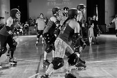 rebels_vs_panic_L1063704 1 (nocklebeast) Tags: ca usa santacruz rollerderby rollergirls zombies vampires skates organicpanic santacruzderbygirls redwoodrebels