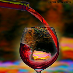 A drop of wine (... Knight Production ...) Tags: red blur art glass colors beautiful rock photo bottle artwork scenery image scenic cable scene knight production wineglass redwine winebottle ache colourartaward coloursplosion adropofwine cableknight knightproduction