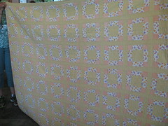 Kathleen:  old yellow squares quilt from a friend (roaringforkquiltguild) Tags: july23