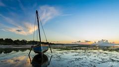 Blue Sky Blue Boat (L.Charl de Klerk) Tags: ocean africa sea beach sunrise landscape boat flickr flight mozambique pemba flightc25c