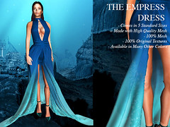 BLOKC - The Empress Blue Ombre Gown (Giana Paine [ B L O K C ]) Tags: necklace clothing mesh sl secondlife crown mystical empress marketplace accessories earrings gown hud fashionista tmp slink gorean slblog slfashion secondlifefashion blokc secondlifeblog gorrean themeshproject
