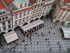 Old town square in Prague as seen from Old Town Hall Tower (traveltipy.com) Tags: city prague praha czechrepublic oldtownsquare