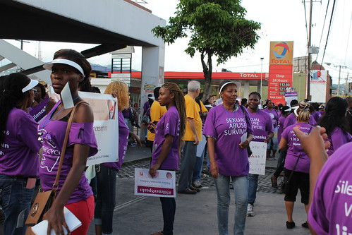 AHF Jamaica Silent Protest On November 25, 2015