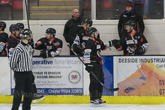 Celebrating at the Bench (Official Manchester Phoenix Photography) Tags: game ice hockey phoenix sport contest icehockey icerink rink match puck deeside epl manchesterphoenix basingstokebison englishpremierleague epihl deesideleisurecentre englishpremiericehockeyleague deesideicerink