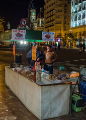 Local Street Nut Seller ( Plaza Ayuntamiento - Valencia) (Panasonic GX8 & Panasonic 14mm F2.5 Pancake Prime) (markdbaynham) Tags: people valencia lumix prime spain evil panasonic espana espanol pancake es f25 dmc csc gx8 spainish m43 14mm mft mirrorless u43 micro43 microfourthirds lumixer m43rd