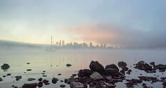 Lake Union Sunrise (bombeeney) Tags: seattle city urban mist misty fog mystery skyline sunrise washington shoreline foggy gasworks pacificnorthwest lakeunion pnw gasworkspark a7s sonyfe1635f4zaoss fe1635mmf4