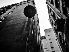 gray day (Yiannis Yiasaris) Tags: city people blackandwhite monochrome streetphotography australia melbourne pancake 16mm ultrawideangle sonya6000