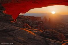 La Sal Sunrise (Ansgar Hillebrand) Tags: sunset usa sunrise nikon arch canyon canyonlandsnationalpark canyonlands redrocks moab bluehour 2009 hdr mesaarch lasalmountains usasouthwest nikond300