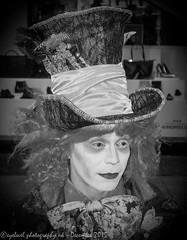 Mad Hatter (Eyelevel Photography UK) Tags: blackandwhite london monochrome camden camdenmarket dressingup madhatter teaparty aliceinwonderland nw1 camdenroad camdenlock eyelevelphotographyukallrightsreserved