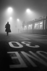 cinematic (Cem Bayir) Tags: street leica light people mist misty fog night 50mm lowlight dof bokeh streetlights pov f14 foggy streetphotography cinematic summilux asph mistery leicam asperical leicam240