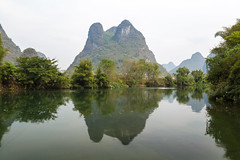 Yulong River reflections (Bridgetony) Tags: china asia southeastasia guilin yangshuo karst guanxi asiapacific
