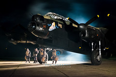 5020_Lancaster (Rob Ferrol) Tags: lancaster bomber aircraft historic iconic heavy wwii world war two royal air force raf command east kirkby lincolnshire airfield night moody atmospheric evening dusk rob ferrol copyright photographer worksop notts nottinghamshire merlin engines four restoration period bird flight crew uniform aircrew misty evocative dark reminiscent
