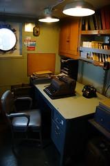 Lightship office, Boston MA (Boston Runner) Tags: lightship nantucket lv112 boston harbor massachusetts 1936 shipyard marina eastboston museum preserved interior officer office typewriter phone desk