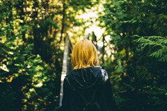 Falling Deeper (Myles Ramsey) Tags: nature landscape green greenery trees forest girl mood travel evergreen