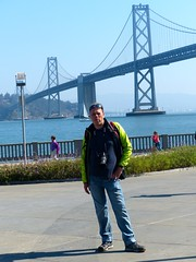 Me & Oakland Bay Bridge (frankbehrens) Tags: sanfrancisco california kalifornien oaklandbaybridge