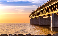 Bron (Pingo2002) Tags: canon resund resundsbron bridge bro architecture concrete construction sea sunset sun sweden sverige skne malm sky steel water bron