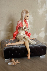 "Pouf ""Kubo"", scale 1: 4, 1: 6 (JuliaGart) Tags: pouf furniture for furniturefordolls furnitureforthesybarite furnitureforfashionroyalty order sale sybarites superfrock scale 14 16 gartung julia juliagart bjd pandora orb"